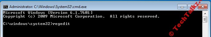 Run RegEdit from Admin Command Prompt